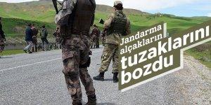 Jandarma alçakların tuzaklarını bozdu