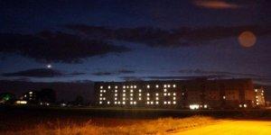 KYK yurdunda oda ışıklarıyla 'Kudüs' yazıldı