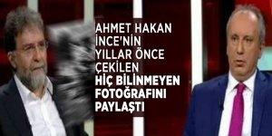 Ahmet Hakan İnce'nin yıllar önce çekilen hiç bilinmeyen bir fotoğrafını paylaştı