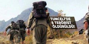 Tunceli'de 8 terörist öldürüldü!