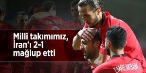 Milli takımımız, İran'ı 2-1 mağlup etti
