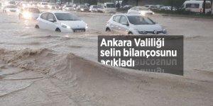 Ankara Valiliği selin bilançosunu açıkladı