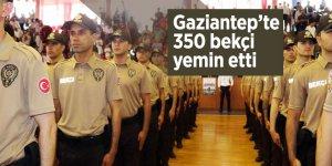 Gaziantep'te 350 bekçi yemin etti