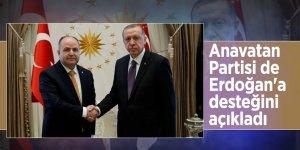 Anavatan Partisi Erdoğan'a desteğini açıkladı