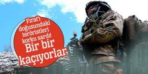Fırat'ı doğusundaki teröristleri korku sardı! Bir bir kaçıyorlar