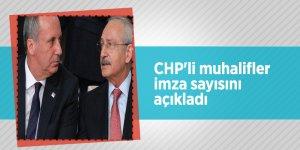 CHP'li muhalifler imza sayısını açıkladı