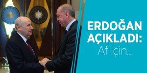 Erdoğan açıkladı: Af için...