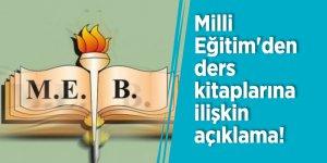 Milli Eğitim'den ders kitaplarına ilişkin açıklama!