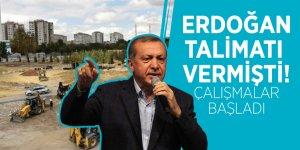 Erdoğan talimatı vermişti! Çalışmalar başladı