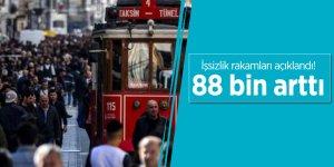 İşsizlik rakamları açıklandı! 88 bin arttı