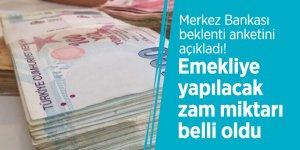 Merkez Bankası beklenti anketini açıkladı! Emekliye yapılacak zam miktarı belli oldu