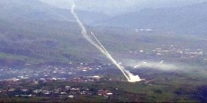 Şemdinli'de PKK sığınaklarına top atışı