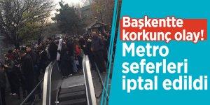 Başkentte korkunç olay! Metro seferleri iptal edildi