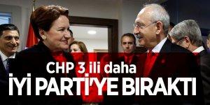 CHP 3 ili daha İYİ Parti'ye bıraktı