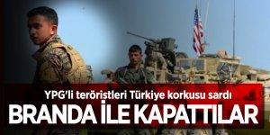 YPG'li teröristleri Türkiye korkusu sardı! Branda ile kapattılar