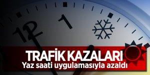 Trafik kazaları, Yaz saati uygulamasıyla azaldı