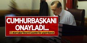 Cumhurbaşkanı onayladı... O atamalar Resmi Gazete'de yayımlandı