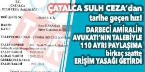 Çatalca Sulh Ceza Hakimliği, Darbeci Amiral'in Avukatı'nın talebiyle birkaç saatte 110 farklı sosyal medya paylaşımına ERİŞİM ENGELİ koydu