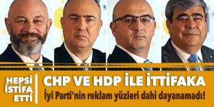 CHP ve HDP ile ittifaka İyi Parti'nin reklam yüzleri dahi dayanamadı!