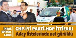 CHP ve İyi Parti'nin 'inkar ettiği' HDP ittifakı CHP listelerinde net görüldü