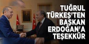 Tuğrul Türkeş'ten Başkan Erdoğan'a teşekkür