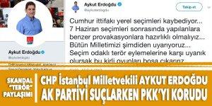 CHP'li Erdoğdu'dan SKANDAL paylaşım: O terör saldırılarını AK Parti'ye mal edip PKK'yı akladı!