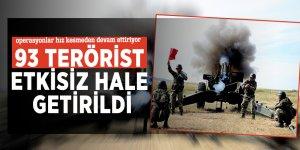 93 terörist etkisiz hale getirildi