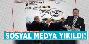 Sosyal medya yıkıldı! Melih Gökçek'ten Erdoğan-Kılıçdaroğlu paylaşımı
