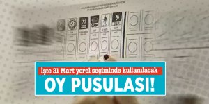 İşte 31 Mart yerel seçiminde kullanılacak oy pusulası!