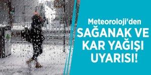 Meteoroloji'den sağanak ve kar yağışı uyarısı!