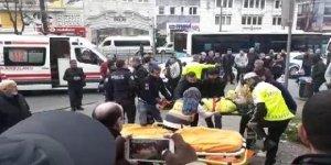 Beyazıt'ta özel halk otobüsü kaza yaptı! Çok sayıda yaralı var