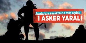 Jandarma karakoluna ateş açıldı: 1 asker yaralı