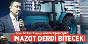 Bakan Pakdemirli müjdeyi verdi: Yerli traktör hazır, mazot derdi bitecek