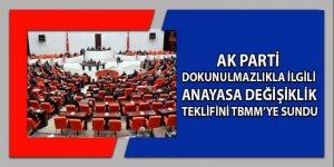Ak Parti dokunulmazlıkla ilgili ANAYASA DEĞİŞİKLİK teklifini TBMM'ye sundu