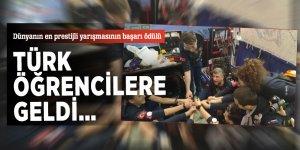 Dünyanın en prestijli yarışmasının başarı ödülü, Türk öğrencilere geldi…