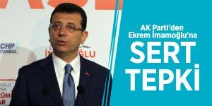 AK Parti'den Ekrem İmamoğlu'na sert tepki