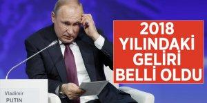 Putin'in 2018 yılındaki geliri belli oldu