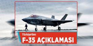 Türkiye'den F-35 açıklaması