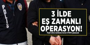 3 ilde eş zamanlı operasyon! Örgüt adına mahkeme kuran 8 PKK'lı yakalandı