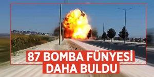 87 bomba fünyesi daha buldu