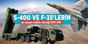 S-400 ve F-35'lerin ne zaman teslim olacağı belli oldu