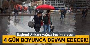 Ankara'da yağış 4 gün boyunca devam edecek!