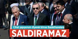 Cumhurbaşkanı Erdoğan'dan Büyük Çamlıca Camii'nde önemli açıklamalar