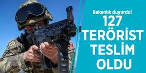 Bakanlık duyurdu! 127 terörist teslim oldu