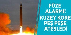 Füze alarmı! Kuzey Kore peş peşe ateşledi