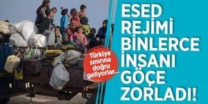 Esed rejimi, binlerce insanı göçe zorladı! Türkiye sınırına doğru geliyorlar...