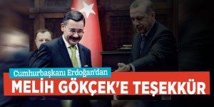 Cumhurbaşkanı Erdoğan,Melih Gökçek'e teşekkür etti
