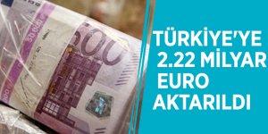 Türkiye'ye 2.22 milyar euro aktarıldı