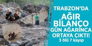 Trabzon'da ağır bilanço gün ağarınca ortaya çıktı! 3 ölü 7 kayıp