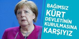 Merkel: Bağımsız Kürt devletinin kurulmasına karşıyız